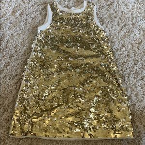 Other - Girls (8/9) gold sequence dress
